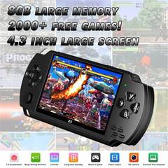 4.3 inch handheld game console 8GB video game console e-book / FM / 1.3 megapixel camera black