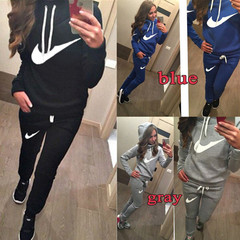 Jogging Femme Tracksuit For Women Sport Fashion Long sleeve Sweaters  Hoodies Sweat Suits For Women black s