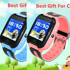 New Children's Phone Watch Touch Positioning Smart Phone Watch Best Gift For Children Pink One size