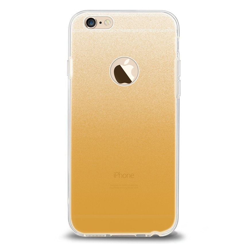 cheap for discount 4d2e8 6e59c Apple iPhone 6 6s 7 8 Plus 5s Luxury flash back case ultra-thin anti-fall  anti-skid Protective Case yellow for iphone 7/8 Plus