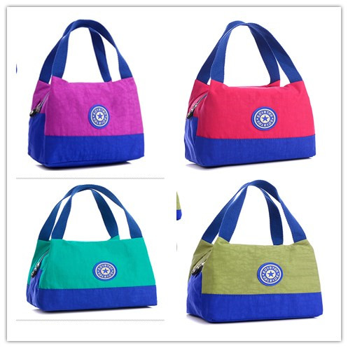 2019 new women's bag waterproof Oxford cloth handbag Light pink one size