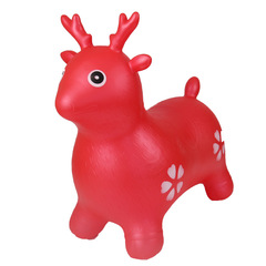 PVC jump horse thickening new jump deer environmental protection explosion-proof kindergarten baby Red One Size