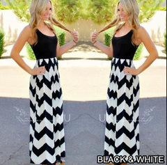 Hot style sleeveless rounded neck, slim, wavy dress black s