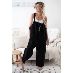 Hot style casual oversize trousers have pockets in new multi-colored stock black s