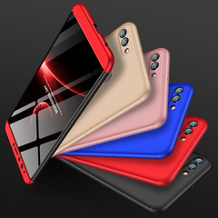 huawei Y9 2018 Case huawei Y9 2019 Case  360 Full-body Protection Matte Cases Coque Hard PC Shell red black red Huawei Y9 2019