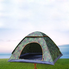 Tents Outdoor Camping Waterproof Hiking Tent Anti-UV 2/4Person Folding Pop Up Automatic Open camouflage color 1 people single door