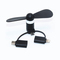 Binful 3 IN 1 Travel Portable Cell Phone Mini Fan  For Micro USB black