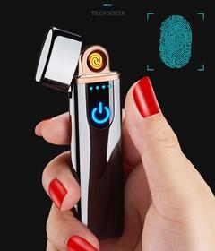 Electric Electronic USB Lighter Plasma Cigarette Lighter gift for smoking Cigarette Tools golden