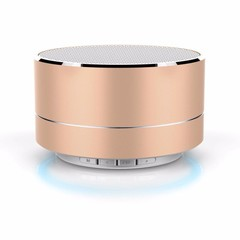Bluetooth Speaker Support   Mobile Phone Music Mini Wireless Outdoor Portable Woofer Subwoofer golden one size