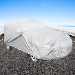 Car universal clothing accessories PEVA single-layer car cover rainproof dustproof  protection silver S