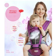 Baby Carrier Sling Wrap Portable Infant Hipseat Baby Care Waist Stool Adjustable Hip Seat Purple One size