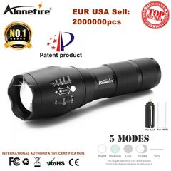 T6 Aluminum Waterproof Zoomable LED Flashlight Torch light for 18650 Rechargeable Battery black one size