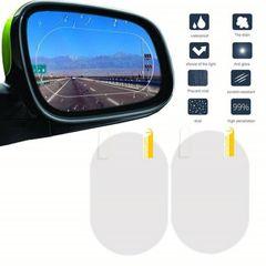 Car Side Window Waterproof Anti Fog Anti-Glare Rainproof Rearview Reversing Mirror Protective Film as picture 2*oval 95*135mm