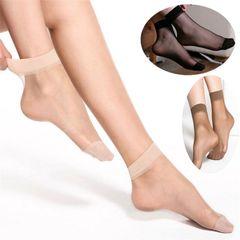 10 Pairs womens wear Silk Short Socks Elastic Short Ankle Sheer Silk Short Socks for women SKIN 10 Pairs