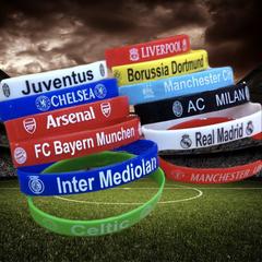 Football Silicone Bracelet Juventus Arsenal Real Madrid FC Bayern AC MILAN CHELSEA random random