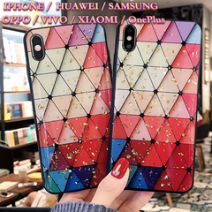 Mobile Phone Case Colorful Drops glue Platinum IPhone/HUAWEI/SAMSUNG/Xiaomi/OPPO Soft Cover Charm Colorful iphone6/6s