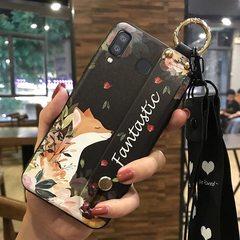 SAMSUNG  Phone Case A30/A80/A50/A10/A20M30 Galaxy Soft Shell Floral Print  With Wrist Band Bracket 11# A10