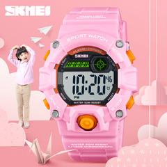 Waterproof Children Girls Digital LED Quartz Alarm Date Sports Wrist Watch  Freeshipping Hot Sales pink one size