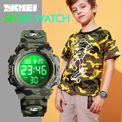 Outdoor Multifunction Waterproof kid/child Sports Electronic Watches Children Boy Girl Digital Clock Camouflage green one size