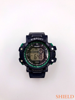 SHIELD-2019 New Fashion Outdoor Sports Children's Adult smart watch Eight colour lights green one size