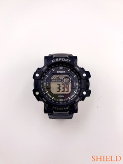 SHIELD-2019 New Fashion Outdoor Sports Children's Adult smart watch Eight colour lights black one size