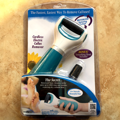New Electric Foot Grinder.Can Install Batteries.Rechargeable.Exfoliating Scrub.Massage.Skin Care. Green