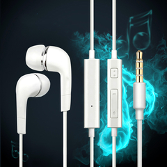 3.5mm Jack.Stereo.Volume Control.Microphone.Apply To Android And Iphone. Mobile Accessories White