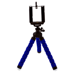 Deformable Tripod.Mobile Phone Bracket.Multipurpose.Applicable To Mobile Phones, Cameras, Tablets. Blue Normal