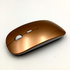 2.4G Ultra-thin Wireless Mouse.Applicable To Computers And Laptops.Portable.Fashion.Peripherals Gold One size