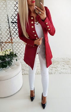 Best Sellers New Long Sleeve Slim Suit.Breasted.Gift: A Pair Of Short Stockings.Coats & Jackets Red XL