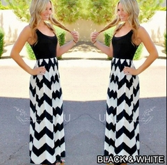 Sleeveless Round-collar Slim Dress.Gift: A Pair Of Short Stockings. m black