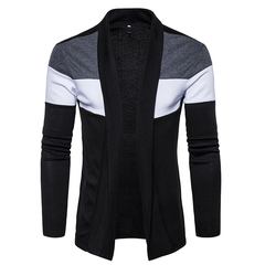 New Men's Fashion Knitwear.Polyester.Ventilation.Gift: A Pair Of Socks.Jackets & Trench Coats black XL