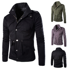 Men's Thin Large Jacket.Four Seasons Universal.Gift: A Pair Of Socks.Jackets & Trench Coats black m