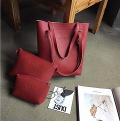 New Fashion Lady Handbag.Three-piece.8906 red one size