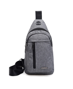New Fashionable Men's Diagonal Bags, Canvas, Hot Sellers, Multi-function.Messenger&Shoulder Bags8904 gray one size