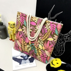 New Fashion Printed Canvas Shoulder Bag, Shopping Bag, Durability, Large Capacity.Handbags122005 pink one size