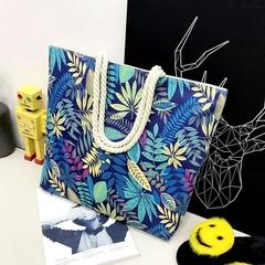 New Fashion Printed Canvas Shoulder Bag, Shopping Bag, Durability, Large Capacity.Handbags122005 blue one size