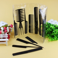 10 Sets Of Combs.Hair-cutting And Hairdressing Tools.Hair Dye Comb.Plastic.Portable. black one size