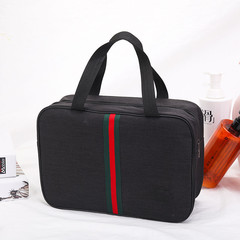 New Zipper Waterproof Wash Bag, Bath, Fitness, Travel, Large Capacity, Double-deck.02Tote Bag black one size