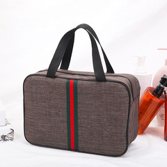New Zipper Waterproof Wash Bag, Bath, Fitness, Travel, Large Capacity, Double-deck.02Tote Bag brown one size