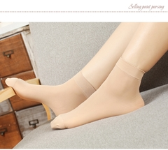3 Pairs Of Ladies'socks, Fashionable, Comfortable, Durable And Popular.Fabric0009 beige one size