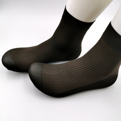 Men's Breathable Socks, Comfort, Stripe Pattern, Leather Shoes, Sports Shoes, Sandals Are Applicable brown normal normal