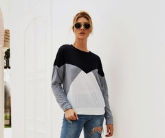 Long Sleeve For Ladies, Suitable For Four Seasons, Cotton And Polyester.Tops gray m