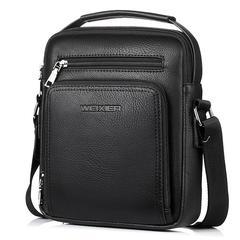 Vintage Business Cross-body Bag For Boys Men Male High Quality PU Leather  Handbag Shoulder Bag black 26cm*21cm*7cm