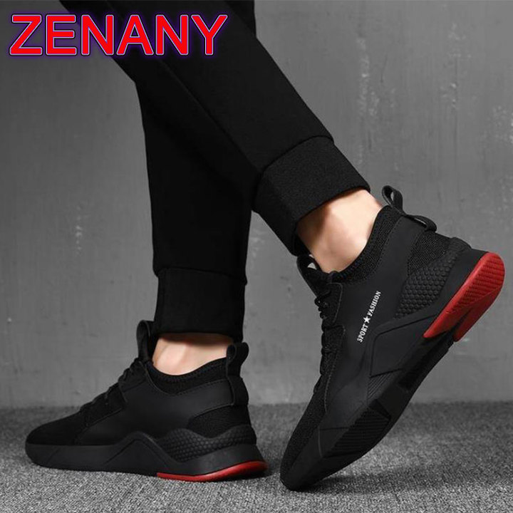 ZENANY Lowest Price Overfire Korean fashion men's sports shoes,sandals,casual breathable shoes men blcak 39