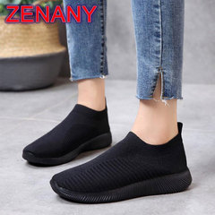 ZENANY Lowest Price Mesh Breathable Women's Sports shoes,Running Shoes,Flat Shoes Women,Sneakers Black 37