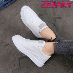 ZENANY Lowest Price Korean small white shoes women flat students leisure sports sneakers women'shoes gray 40