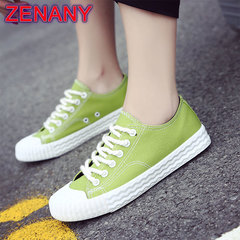 ZENANY Lowest price 6-colour Korean breathable canvas women 's shoes running student leisure shoes green 35