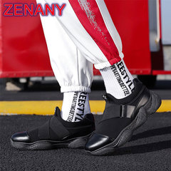 ZENANY Boom Promotion Fashionable Personality Daddy Shoes Low Up Leisure Sports Running Men's Shoes black 44