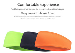 Pure color running stop sweat with basketball guide sweat band cycling sport headband All code green